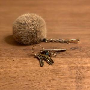 Michael Kors Rabbit Fur Key Chain
